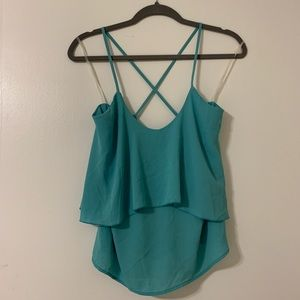 Foreign Exchange Blue Chiffon Cami Top